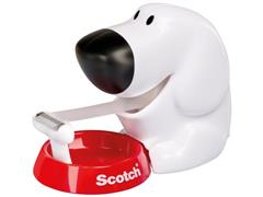 Scotch® Plakbanddispenser ''Hond'' Wit, incl. 1 rol Magic™ plakband