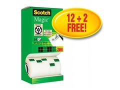 Scotch® Magic™-tape torenverpakking transparant 19 mm x 33 m verpakking van 14 (pak 14 rollen)verpakking van 14 (SC9011265)