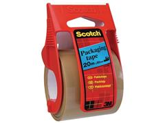 Scotch® Verpakkingstape dispenser ''Easy to Start'' 50 mm x 20 m, bruin (rol 20 meter)