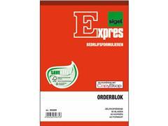 Sigel Expres Bedrijfsformulieren Orderblok, 2x50 vel, genummerd (krimp 5 stuks)