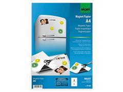 sigel Paper magnetic inkjet/pk 5 (pak 5 vel)