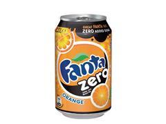 Fanta Orange Zero, Frisdrank, 0,33 l, Blik (pak 24 x 33 milliliter)