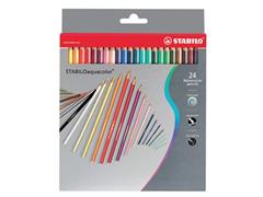 STABILO Kleurpotloden, zeshoekige huls, loodstiften assorti (doos 6 x 24 stuks)