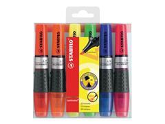 STABILO Luminator XT highlighter Geel, oranje, groen, roze, blauw en rood (pak 6 stuks)