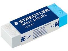 Staedtler Mars Gum Mars plastic Combi blauw (speciaal geschikt voor balpennen)/wit