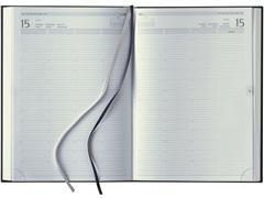 Staples Madrid Agenda, 7 Kolommen, 1 dag per 2 pagina's, Zwart