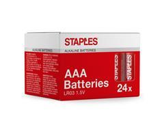 Staples Alkaline AAA-batterijen, 1,50 V, 1150 mAh (doos 24 stuks)
