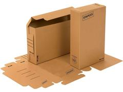 Staples Archiefdoos, Karton, 230 x 80 x 350 mm, Bruin (pak 25 stuks)