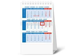 Staples Driemaandskalender, Tafelmodel, 105 x 165 mm
