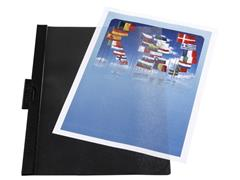 Staples Klemmap 1-30 vel, zwart (pak 5 stuks)