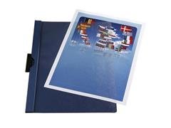 Staples Klemmap 1-60 vel blauw (pak 5 stuks)