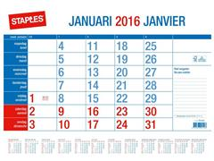 Staples Maandkalender, 430 × 333 mm