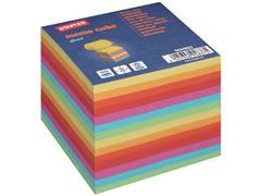 Staples Memoblok Gekleurd papier aan 1 zijde verlijmd (blok 800 vel)