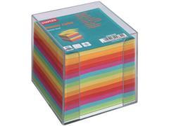 Staples Memoblok Transparante houder incl. gekleurd papier
