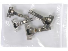 Staples Gripsluitingzakjes polyethyleen hersluitbaar transparant 180 x 250 mm verpakking van 100 (pak 100 stuks)