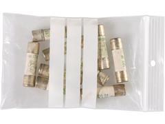 Staples Gripsluitingzakjes polyethyleen, beschrijfbaar hersluitbaar, transparant, 80 x 120 mm (pak 100 stuks)