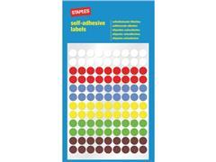 Staples Markeer etiketten Diameter 8 mm, assorti (pak 648 stuks)