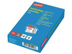 Staples Lamineerhoes Badge-formaat, 67 x 99 mm, 2 x 125 micron, Glanzend (pak 100 stuks)