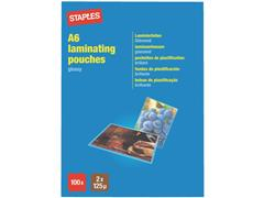 Staples Lamineerhoes A6, 111 x 154 mm, 2 x 125 micron, Glanzend (pak 100 stuks) (SC 5353072)