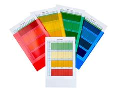 Staples Premium Cut Flush-map in L-vorm, A4, transparant met sinaasappelpatroon, pvc, verschillende kleuren, 302 x 217 mm (pak 25 stuks)