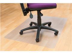 Staples PVC Vloermat harde vloer, rechthoekig, 100% recyclebaar, transparant, 900 mm x 1200 mm