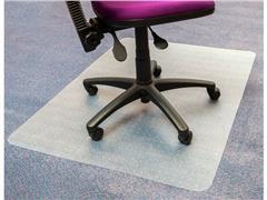 Staples PVC Vloermat tapijt, rechthoekig, 100% recyclebaar, transparant, 900 mm x 1200 mm