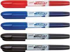Staples Remarx Whiteboardmarker, Ronde Punt, 1 mm, Assorti (pak 5 stuks)
