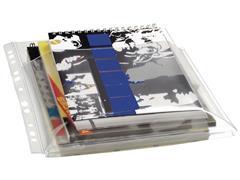 Staples A4 Showtas met Expansieplooi, Polypropyleen, 300 micron, 11-gaats, Transparant (pak 10 stuks)