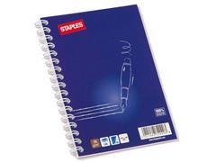 Staples Spiraalblok, Gelinieerd, A6, Blauw (pak 5 x 100 vel)