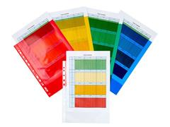 Staples Standard Plus A4 Showtas, Polypropyleen, 65 micron, 11-gaats, Assorti (pak 25 stuks)