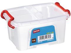 Staples Opbergboxen 0,4 liter, transparant, l 133 x b 88x h 77mm