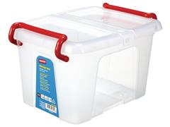 Staples Opbergboxen 6,3 liter, transparant (pak 5 stuks)