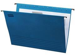 Staples Hangmap Euroflex Verticaal, folio, v-bodem, blauw (doos 25 stuks)