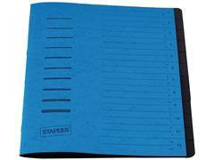 Staples Sorteermap elasto 12 vakken, blauw
