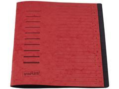 Staples Sorteermap elasto 12 vakken, rood