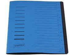 Staples Sorteermap elasto 7 vakken, blauw