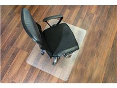 Staples Vloermat harde vloer, rechthoekig, 100% recyclebaar, polycarbonaat, transparant, 1200 mm x 1500 mm