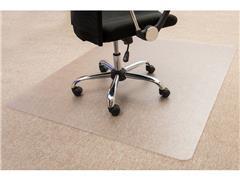 Staples Vloermat tapijt rechthoekig, 100% recyclebaar polycarbonaat, transparant, 1200 mm x 1500 mm