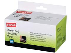 Staples Vochtige Beeldschermdoekjes (doos 100 stuks)