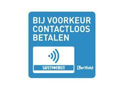 tarifold Sticker Contactloos betalen, Vinyl, 100 x 100 mm (pak 2 stuks)