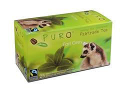 PURO Fairtrade Theezakjes, Earl Grey (doos 6 x 25 stuks)