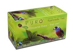 PURO Groene Thee, Fairtrade (doos 6 x 25 stuks)