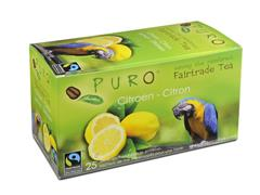 PURO Fairtrade Theezakjes, Citroen (doos 6 x 25 stuks)