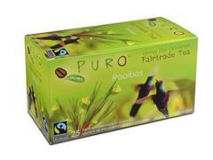PURO Fairtrade Theezakjes, Rooibos (doos 6 x 25 stuks)