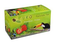 PURO Fairtrade Theezakjes, Aardbei (doos 6 x 25 stuks)