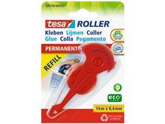 tesa® Permanente ecoLogo Lijmroller Navulling, 8.4 mm x 14 m (pak 5 stuks)