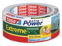 tesa® Extra Power Extreme Outdoor Duct Tape, 48 mm x 20 m, Transparant (rol 20 meter)
