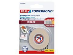 tesa® Powerbond® Indoor Dubbelzijdig Montagetape, 19 mm x 1.5 m, Wit (rol 1.5 meter)