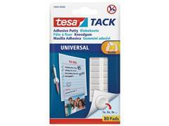 tesa® TACK Universal Zelfklevend Kneedgum, Wit (pak 80 stuks)
