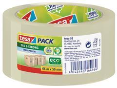 tesa® tesapack Eco & Strong Verpakkingstape, PP, 50 mm x 66 m, Transparant (pak 6 x 66 meter)